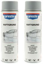 2x Presto Rallye-Spray Haftgrund Grau Füller Grundierung Lackspray 500 ml 428917