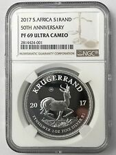 2017 1 oz Silver PROOF Krugerrand - NGC PF69 ULTRA CAMEO with Box and COA