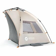 Easthills Outdoors Easy Up Beach Tent Sun Shelter - Extended Zippered Porch