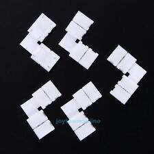 10 X Conector De Esquina Forma De L tira de LED Conector 2Pin y conector libre de soldadura