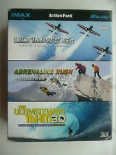 IMAX Action Pack (3D Blu-ray, 2011, 3-Discs) Ultimate Wave / G's,Adrenaline Rush