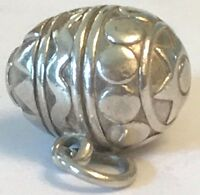 ❤️RETIRED JAMES AVERY ~ Easter Egg CHARM ~ 3-D Solid SILVER 925  EUC w/ JA BOX❤️
