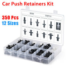 Assortment of 350pcs Car Body Plastic Push Pin Rivet Fastener Trim Moulding Clip