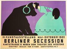 Berliner Secession 1901 Poster Fine Art Lithograph Thomas Theodor Heine COA S2