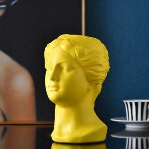 Nordic Resin Human Head Vase Flower Vase Sculpture Modern Home Decor Ornaments