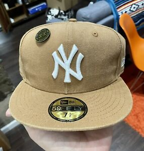 New Era Japan 59FIFTY Fitted Cap New York Yankees Canvas Tan Carhartt LIMITED