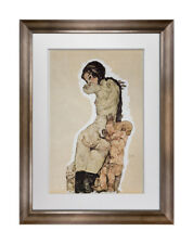 "Egon SCHIELE Lithograph SIGNED Limited Ed: of 100 ""Mother and Child"" 1910"