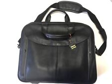 Genuine Leather Briefcase Laptop Dell Heavyduty w/Shoulder Strap Carrying Handle