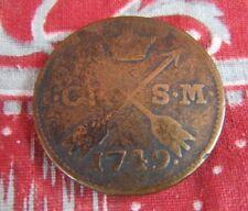 piece monnaie bronze suede royale 1749 swedish coin
