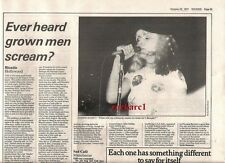 BLONDIE Debbie Harry Hollywood concert review 1977 UK ARTICLE / clipping