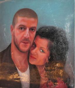 Couple portrait oil painting