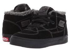 Vans HALF CAB Sherpa Black/Black Gray Toddler Boy Shoes 6 US