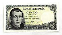 Spain-Billete.  5 Pesetas. Madrid.1951.  SC/UNC