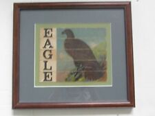 VINTAGE BALD EAGLE  WALL MOUNT  PICTURE JIGSAW PUZZLE IN WOOD FRAME