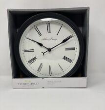 "Threshold Roman 10"" Wall Clock, Classic-style age, Black 51466450 NEW"