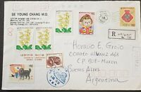 South Korea Registered Cover 1993 To Argentina