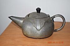 Antique Liberty Warric pewter tea pot Art Deco 1 3/4 pints lead handle