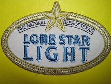 BEER PATCH LONE STAR LIGHT BEER LOOK AND BUY NOW NEW! GET IT NOW! TEXAS BREW!!!!