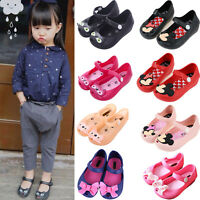 Kids Girls Jelly Sandals Toddler Child Minnie Mouse Summer Casual Flats Shoes