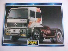 CARTE FICHE CAMION TRACTEUR CABINE AVANCEE RENAULT G 290 GT 1985