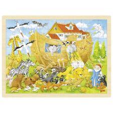 Einzug in die Arche Noah Puzzle 96 Teile Holzpuzzle Einlegepuzzle Goki 57535