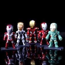 """3.5"""" Set 6pcs Marvel Mark Avengers Iron Man Light LED Action Figure Figurine Toy"""