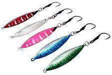 Chomp Fishing Lures Deep Water Kingfish Knife Jigs 130g x 5 Colours Assist Hooks
