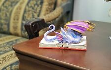 Book Wyrmill Dragon Text Book Statue by Amy Brown Studying Mystical Purple Drago