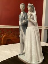 "Lladro Black Legacy ""Wedding Day,"" Bride & Groom, Mint condition, A Treasure!"