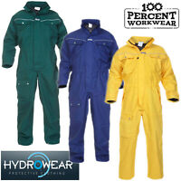 Durable Waterproof Breathable Coveralls Overalls Boiler Suit + Hood Work Wear