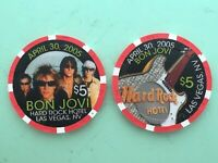 Hard Rock  2005 Bon Jovi  $5 Casino Chip - Mint/New