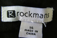 Rockmans Design Black Bo Ho Casual/Lounge Light Weight Pants NWTS Size 14 REDUCE