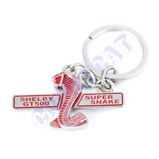 Red&Silver 3D Cobra SUPER SNAKE Car Key Ring Chain for New  SHELBY GT500