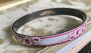 Vintage Michaela Frey Enamel Bangle 8.2 Inches  In Circumference Good Condition