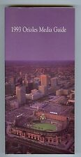 1993 Baltimore Orioles Media Guide