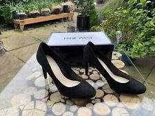 Nine West Womens Shoes UK  5 Black Suede Medium Heel Court Shoes US 7 EU 37.5