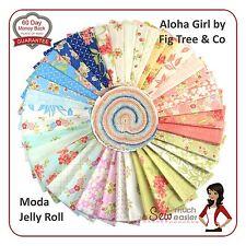 Moda Aloha Girl Jelly Roll Quilt Fabric retro tropical Hawaiian floral vintage