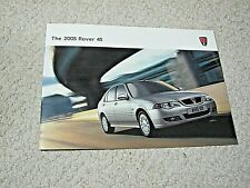 2005 ROVER 45 (UK) SALES BROCHURE..