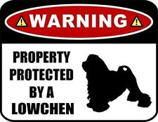Warning Property Protected by a Lowchen (Silhouette) Laminated Dog Sign