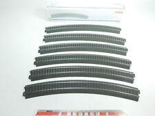 BI131-1# 6x Märklin/Marklin H0/AC Gleisstück gebogen 24430 C-Gleis + OVP NEUW