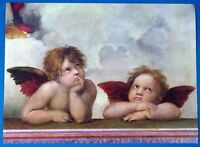 "Raphael ""Putti Detail from the Sistine Madonna"" Litho Print Masterpiece Painting"