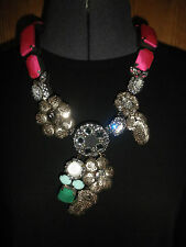 AUTHENTIC SHOUROUK 'MIAMI PINK' 2012 COLLECTION STATEMENT NECKLACE RUNWAY