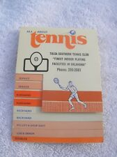 Vintage ALL ABOUT TENNIS pocket instruction booklet tennis tips 1972 rare