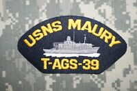NEW RARE US Navy USNS Maury T-AGS-39 Embroidered Cap Military Patch