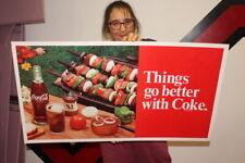 Vintage 1960's Coca Cola Soda Pop Gas Oil 2 Sided 36