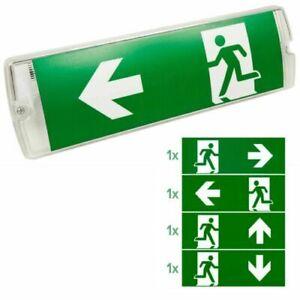 LED Notleuchte Fluchtwegleuchte Notbeleuchtung Notausgang Exit Notlicht Akku