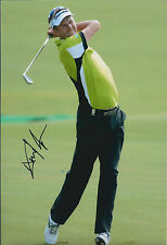 David LYNN SIGNED AUTOGRAPH Golf Photo AFTAL COA Dubai World Tour Championship