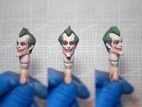 "Painted Custom 1/12 Scale Arkham Asylum Joker Head Sculpt fit 6"" Figure One:12"
