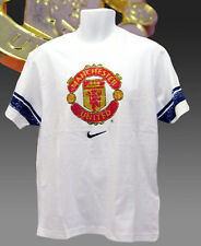 bf7e4cc820f NIKE MANCHESTER UNITED FOOTBALL Club Distressed Graphic Cotton T Shirt  White XXL
