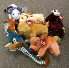 Lot of 6 Zodiac Sign Beanie Baby w/tags Pig Rabbit Dog Dragon Rat Monkey